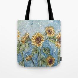Watercolor Sunflowers,Watercolor Batik, Sunflower Art,Sunflower Flower Tote Bag