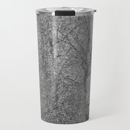 The Lines of Trees in a Whiteout Travel Mug
