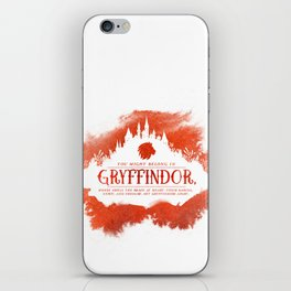 Gryffindor iPhone Skin