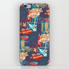 Spaceships and Badges iPhone & iPod Skin
