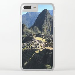 Macchu Picchu on a clear day Clear iPhone Case