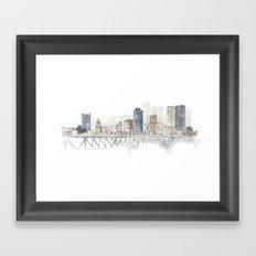 Pittsburgh Liberty Bridge Framed Art Print