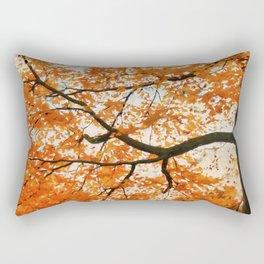 Fall Orange Rectangular Pillow