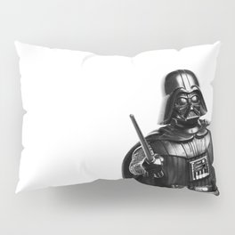 Darth Vader Black & White Photograph Pillow Sham