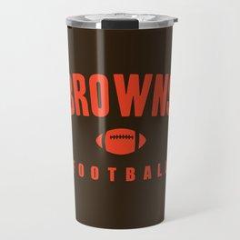 Browns Football Travel Mug