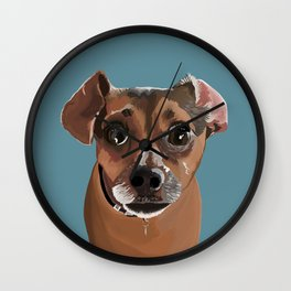 Another Cute Pup : Miss Molly Wall Clock
