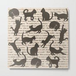 Cat Quotes Metal Print
