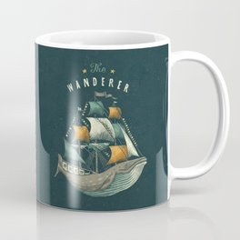 Whale | Petrol Grey Coffee Mug