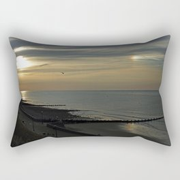 Cromer's setting sun and Sundog Rectangular Pillow
