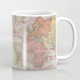 Vintage Map of The World (1883) 2 Coffee Mug