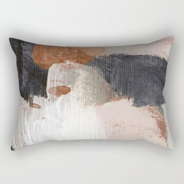 Earthly Abstract Rectangular Pillow