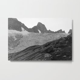 Alps Mountains Glassier Landscape Metal Print