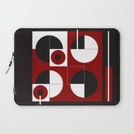 Geometric/Red-White-Black  1 Laptop Sleeve