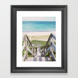 Nantucket Steps to Beach  Framed Art Print
