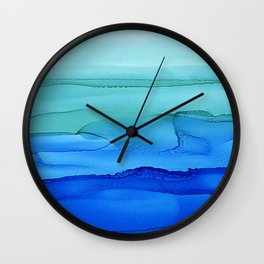 Alcohol Ink Seascape Wall Clock