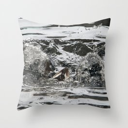 TEXTURES -- Troubled Waters Throw Pillow