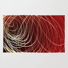 Complex Swirl-Golden Red Rug