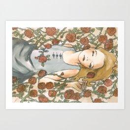 Sleep Beauty//Briar Rose Art Print