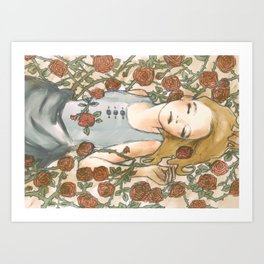 Sleep Beauty//Briar Rose Art Print