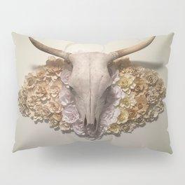 Bohemian Southwestern Steer Skull with Flowers Pillow Sham