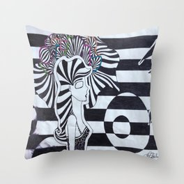 Colors of the Mind Throw Pillow