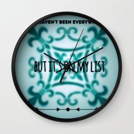 my list Wall Clock