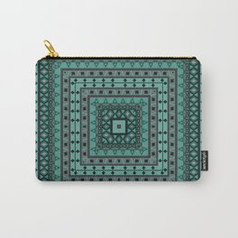 Square shape, geometric pattern, rustic pattern, pillow pattern Carry-All Pouch
