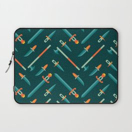 Wild Weapons Swords and Knives Pattern Laptop Sleeve