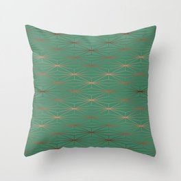 ELEGANT ROSEGOLD AQUAMARINE Throw Pillow