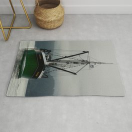 Commercial Fishing Boat Photography Print Rug