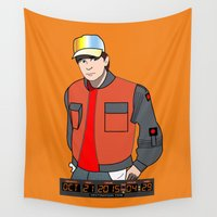 mcfly Wall Tapestries featuring Marty McFly by Pendientera