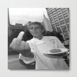 anthony bourdain middle finger Metal Print