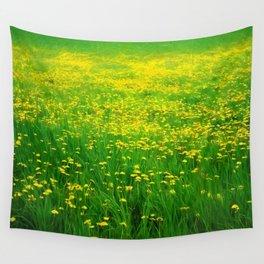 Dandelion Field Wall Tapestry