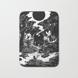 XIII - Death Card (Shadow Light Tarot) Bath Mat