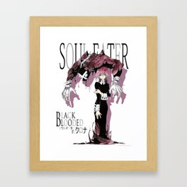 Black Blooded / White Framed Art Print