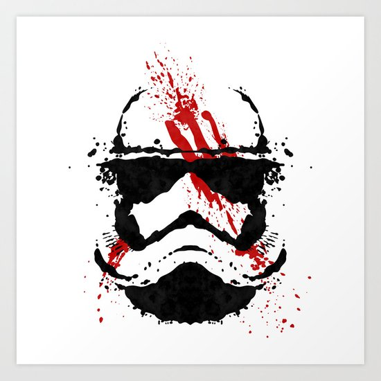 Stormtrooper Ink Blot - Finn Art Print by Graphics By Hand ...