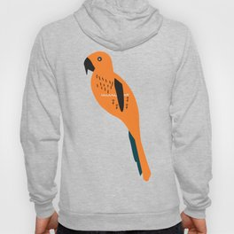 Parrot and flowers Hoody