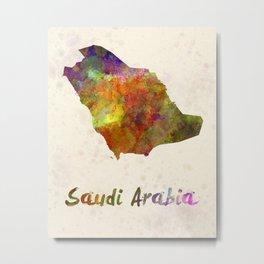 Saudi Arabia in watercolor Metal Print