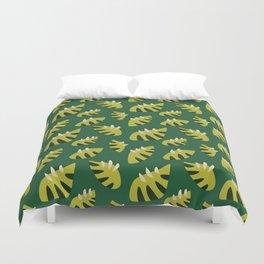 Pretty Clawed Green Leaf Pattern Duvet Cover
