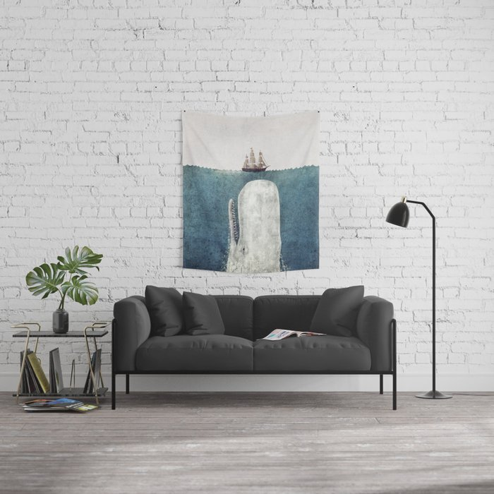 The Whale - vintage  Wall Tapestry