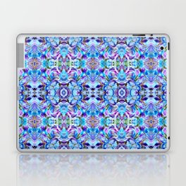 Turquoise Blue Flower Girly  Pattern Laptop & iPad Skin