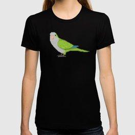 Pixel / 8-bit Parrot: Green Quaker Parrot T-shirt