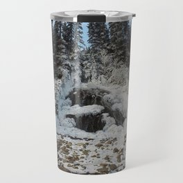 Bridal Veil Falls in Jasper National Park, Alberta Travel Mug