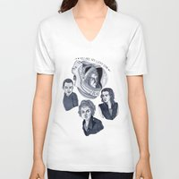 ripley V-neck T-shirts featuring Ripley by scoobtoobins