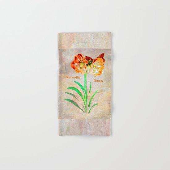 Amaryllis Amore Hand & Bath Towel