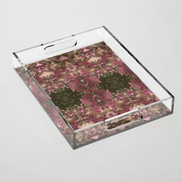Red Shiso Warm Tones Pattern Acrylic Tray