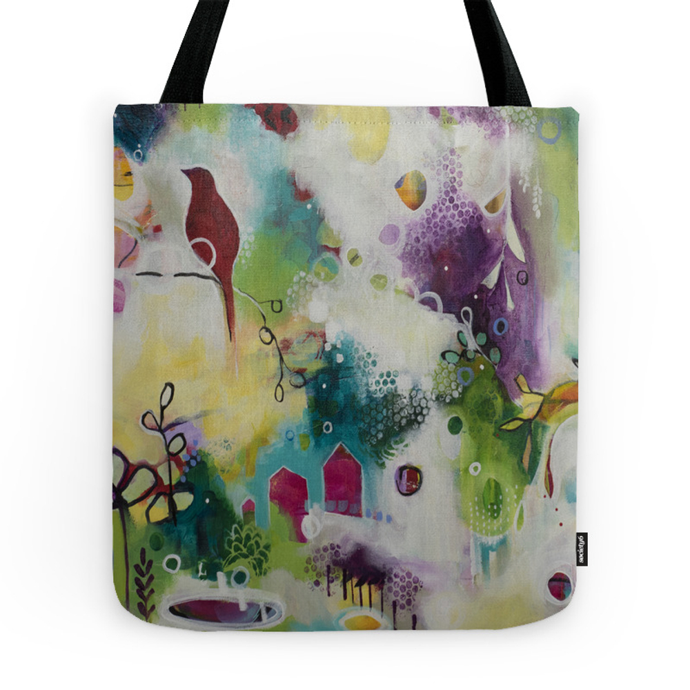 Sitting On Top of the World Tote Purse by emilymitchellstudio (TBG4579664) photo