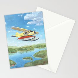 dehavilland beaver dhc-2 float plane Stationery Cards