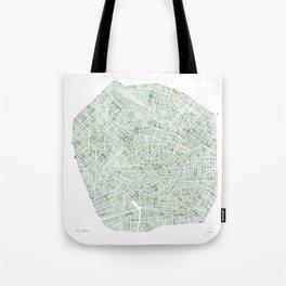 Milan Italy watercolor map Tote Bag