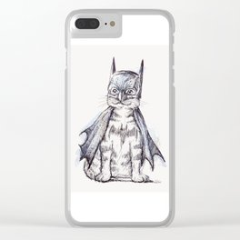 Bat Cat Clear iPhone Case